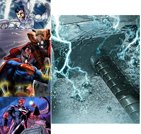 thor vs supes 5 Superman vs Thor