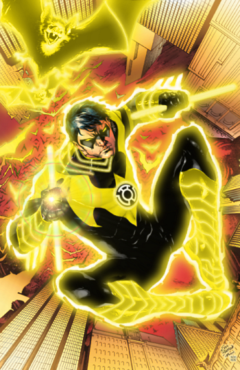 yellow lantern nightwing Spawn VS Sinestro Corps Batman
